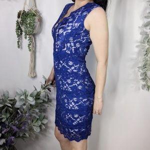 BELLE BADGLEY MISCHKA lace sleeveless dress 0734